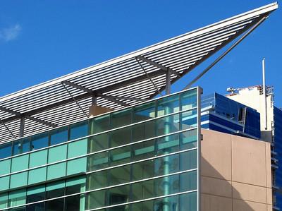Dubai bank building near the exhibition center.
