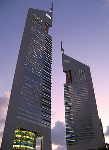 Emirates Tower Dubai .... moments before sunset.