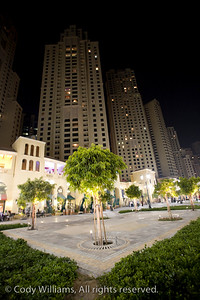 The towers of the Dubai Marina at night, United Arab Emirates (UAE), May 27, 2009. /© Cody Williams.