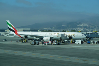 My ride to Dubai, Emirates B777, SFO