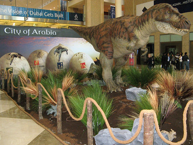 At the 2006 Cityscape Exhibition, Dubai..... who is the marketing genius who decided to associate the 'City of Arabia' with a snarling growling viscious T-Rex?