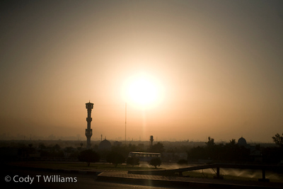 The sun over the city of Dubai, United Arab Emirates (UAE), May 26, 2009. /© Cody Williams.