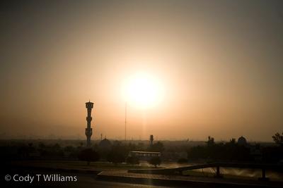 The sun over the city of Dubai, United Arab Emirates (UAE), May 26, 2009. /© Cody Williams.