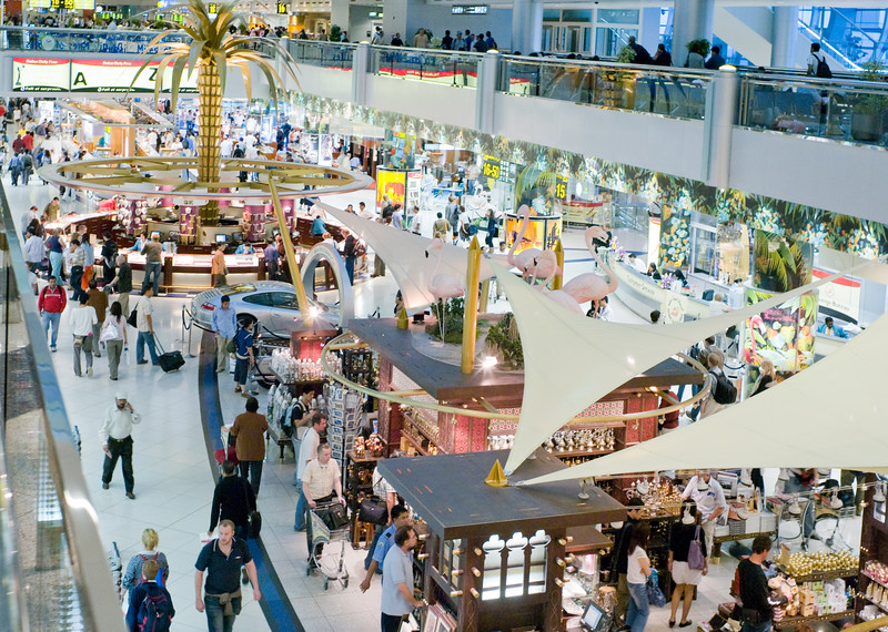 Duty free shopping area, Dubai airport, July 2007