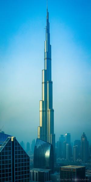 The Burj Khalifa - the world's tallest building.