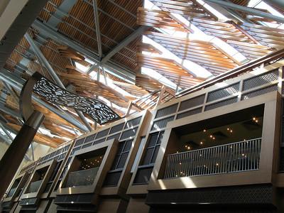 Burjuman Center Mall, Dubai.  Skylight over one of the main shopping arteries.
