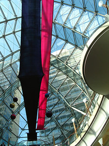Skylight over main atrium space of the Burjuman Center Mall, Dubai.