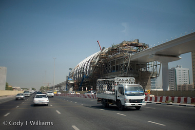 Billions of dollars are invested in Dubai's Metro project visibly under construction throughout the city. The Metro system is expected to be fully operational by 2012. Dubai, United Arab Emirates (UAE), May 25, 2009. /© Cody Williams.