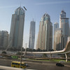 View from the Dubai metro along Sheikh Zayed road