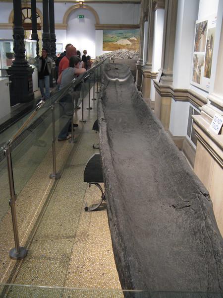 Prehistoric boat. Very long.