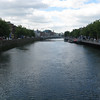 Crossing the Liffey River.