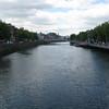 Crossing the Liffey River.