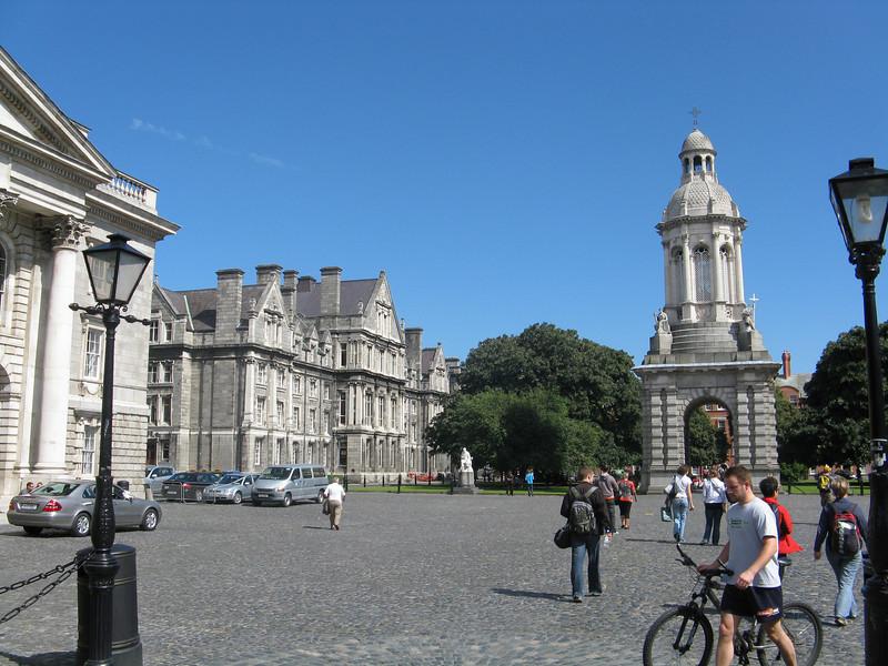 The campanile at Trinity College.