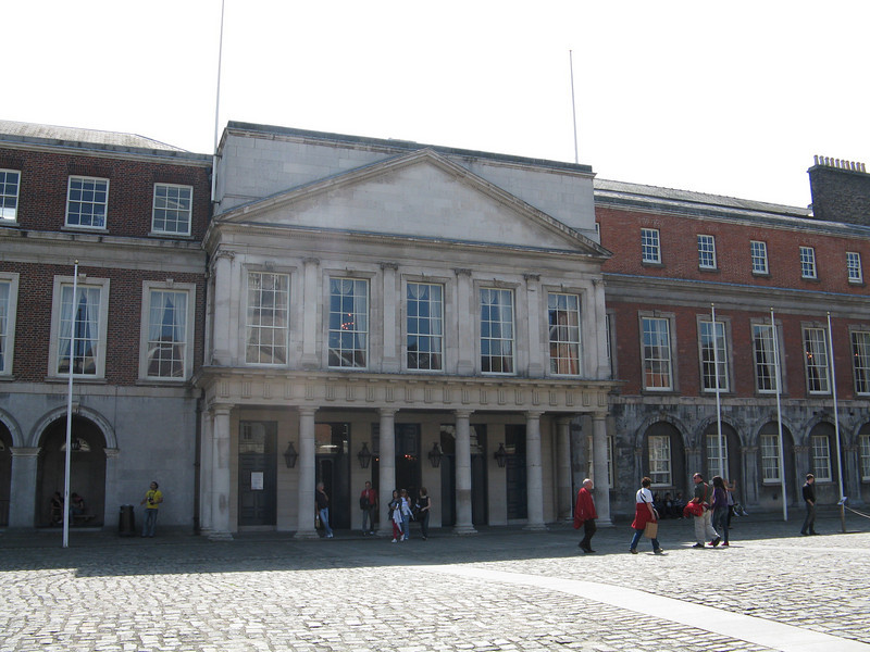 Dublin Castle entrance.