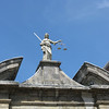 Lady Justice statue.