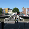 Ha'penny Bridge over the Liffey River.