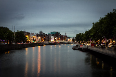 Dublin, The River Liffey, Tilt Shift