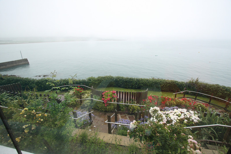View from our Cliffhouse room down to Ardmore Bay