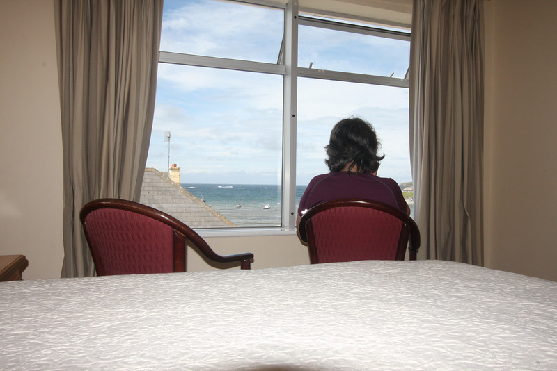 We really enjoyed our ocean view from Halpin's Hotel, Kilkee. The sound of waves on the beach lulled us to sleep and woke us in the morning.