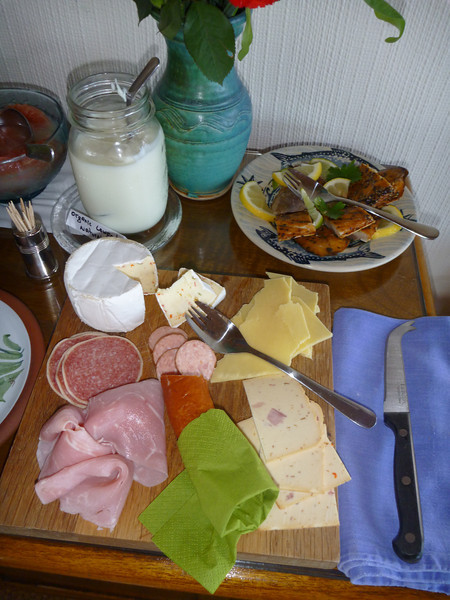 Fresh breakfast meats, cheeses and fish!