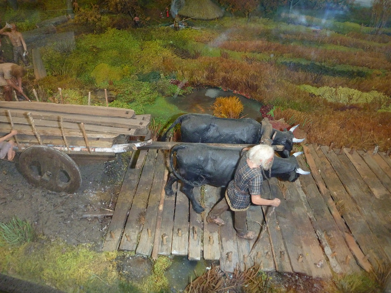diorama of the plank road