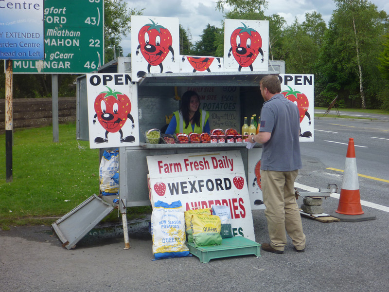loading up on fresh fruit... note WEXFORD