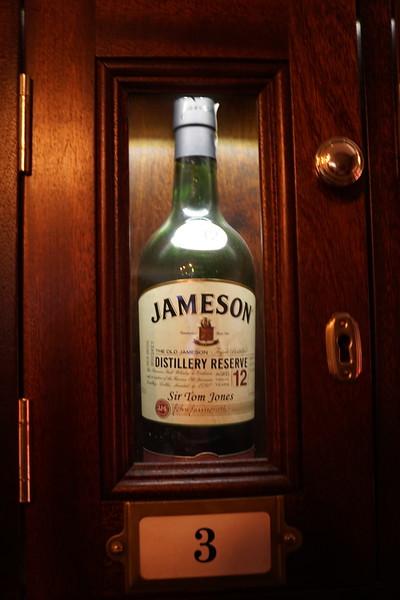 Sir Tom Jones keeps his own bottle in the locker.