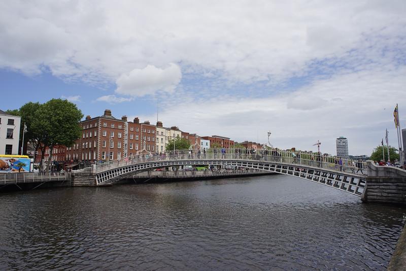 Hapenny bridge over the Liffey