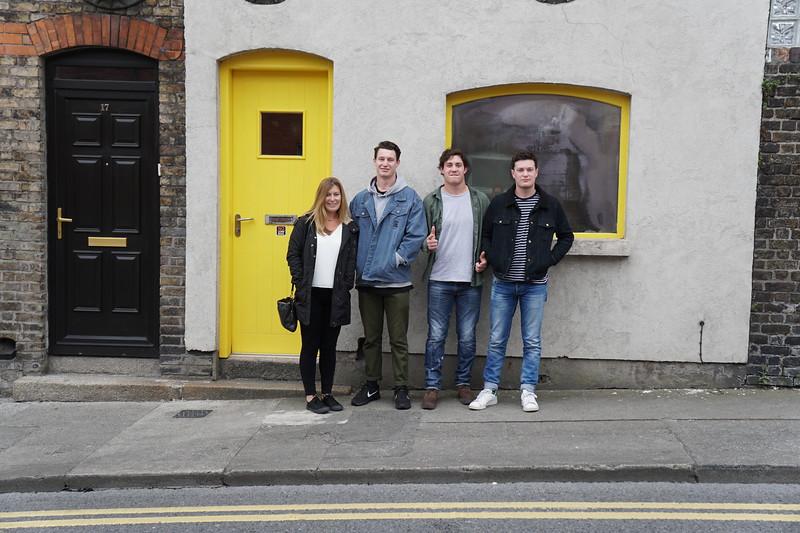 Jane, Harry, Jack & Sam outside our house in Dublin