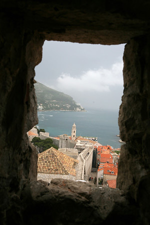 The Old City of Dubrovnik through the City Wall  Croatia