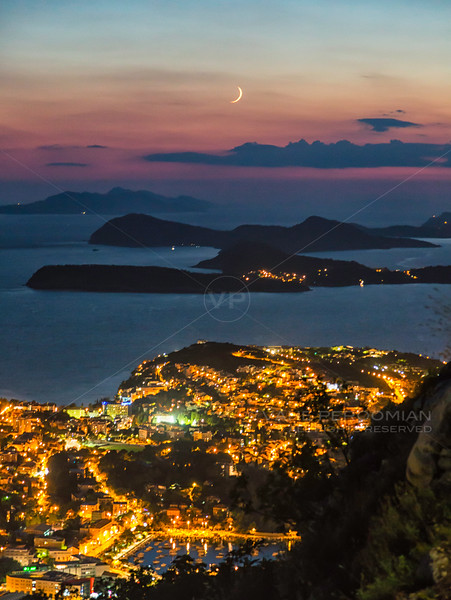 Dubrovnik Moonset