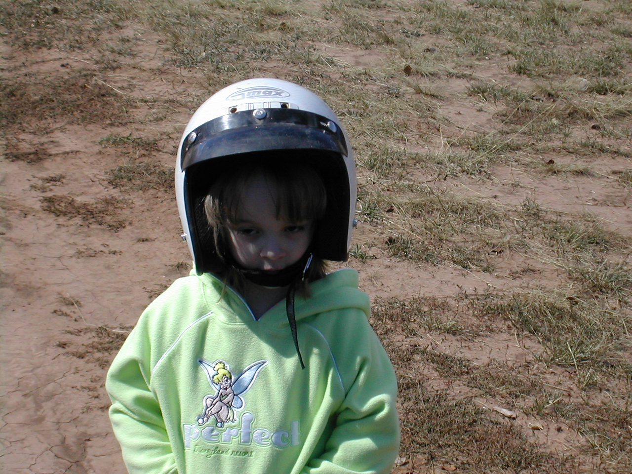 At first we couldn't get Lauren to put the helmet on but she came around and had a really good time.