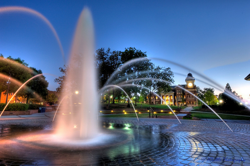 Duluth GA Square just after sunset.