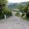 Baldwin Street (World's steepest street) in Dunedin, New Zealand.