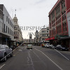 Business street and view in Dunedin, New Zealand.