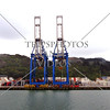 Container cranes at Port of Otago (Chalmers) in Dunedin, New Zealand.