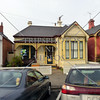 Residential and street view in Dunedin, New Zealand.