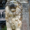 Lion statue at Larnach Castle in Dunedin, New Zealand.
