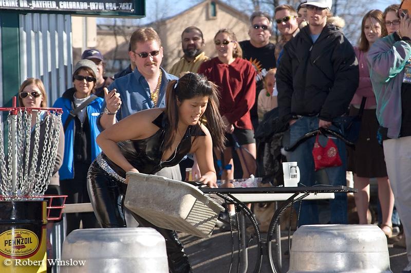 NoMR, Waiter/Waitress Race, Snowdown Winter Carnival, Durango, Colorado