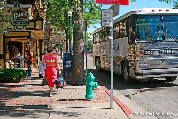 Tour Bus, Summer, Main Avenue, Downtown Durango, Colorado