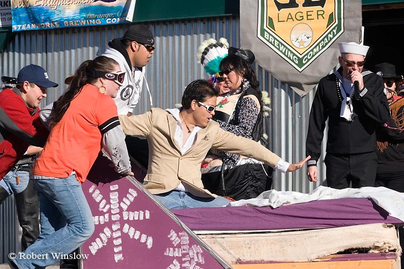 NoMR, Bed Race, Snowdown Winter Carnival, Durango, Colorado