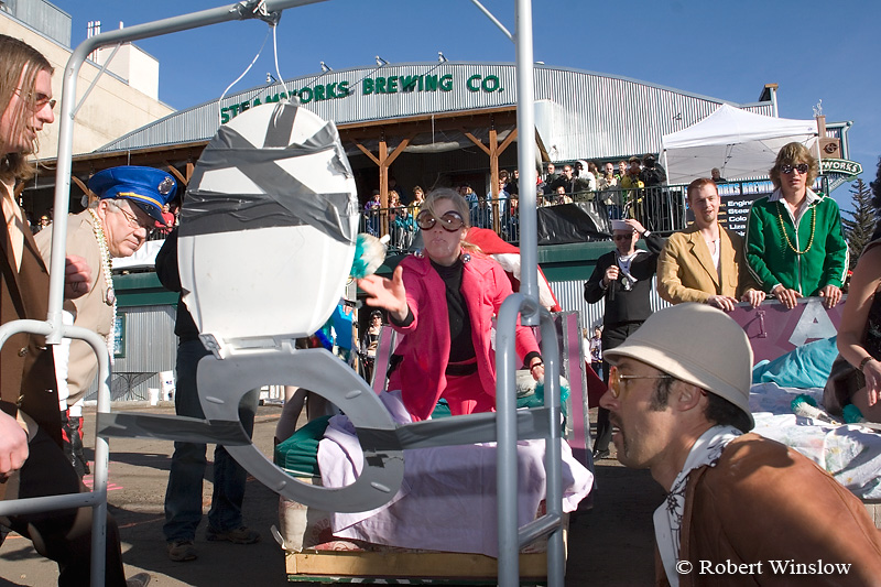 NoMR, Bed Race, Snowdown Winter Carnival, Durango, Colorado