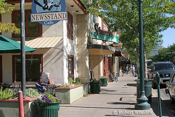 Magpies Newstand and Cafe, Main Avenue, Summer, Downtown Durango, Colorado