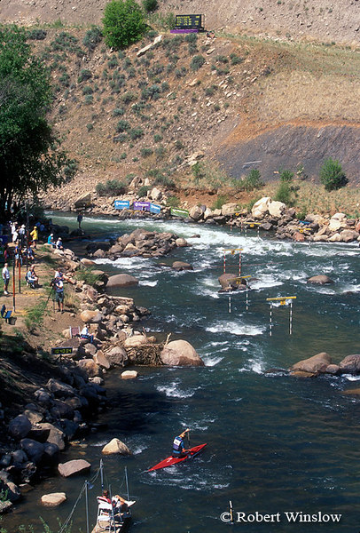 Upper Section of White-Water Park, Durango,Colorado