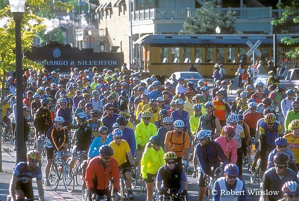 Start of Iron Horse Bicycle Classic, Durango, Colorado
