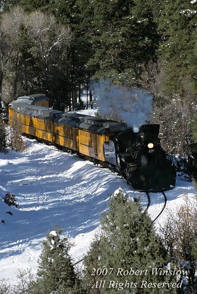 Winter, Durango and Silverton Narrow Gauge Railroad, Colorado, USA, North America