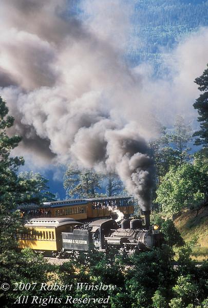 Durango and Silverton Narrow Gauge Railroad, Colorado, USA, North America