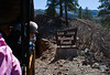 Durango and Silverton Narrow Gauge Railroad entering San Juan National Forest, Colorado, USA, North America