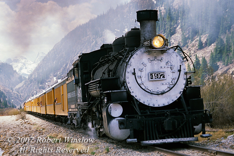 Durango and Silverton Narrow Gauge Railroad, Colorado, USA, North America