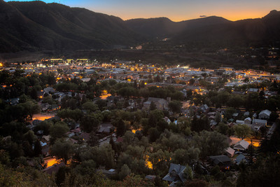 Durango sunset from Fort Lewis College overlook
